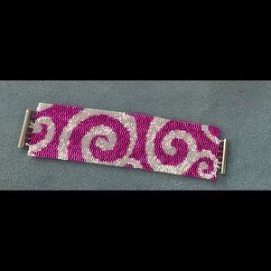 Jewelry - A beaded peyote swirl bracelet